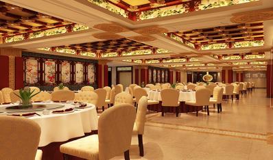 赏析天津丁氏私房菜餐饮会馆新中式装修设计精美效果图