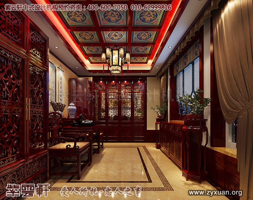 现代中式别墅中堂装修
