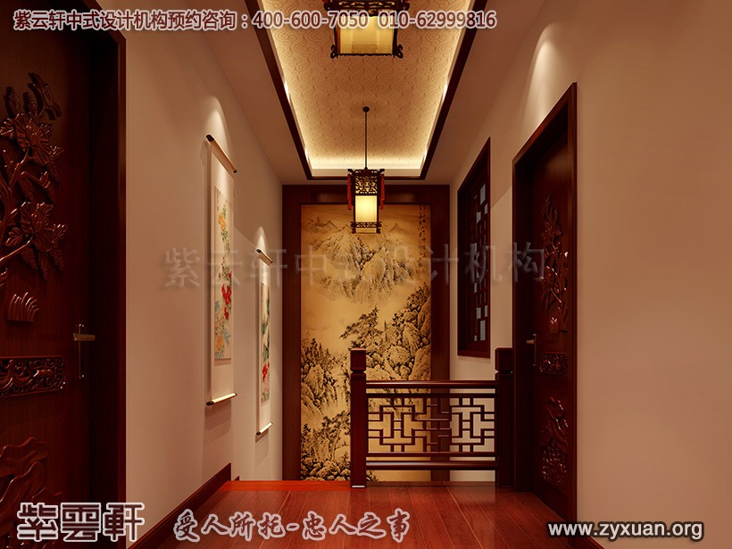 新中式走廊装修效果图