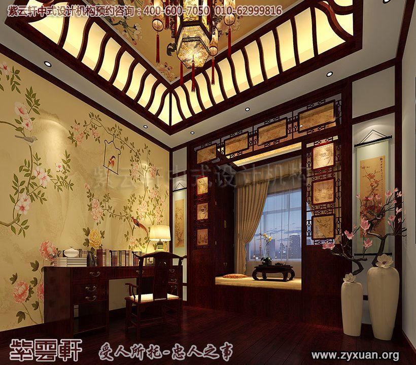 古典卧室书房效果图
