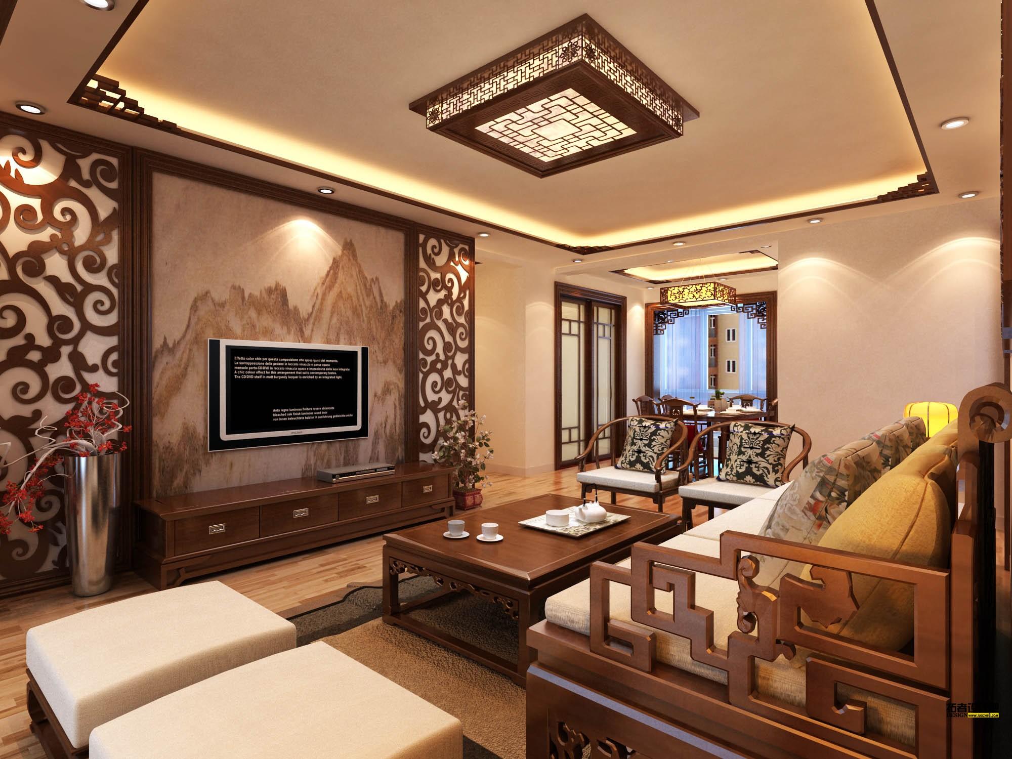 中式装修设计客厅沙发摆放的五大风水禁忌