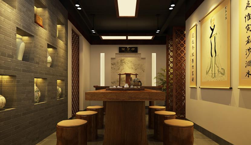 典雅中式装修茶楼设计需遵循以下几方面图片