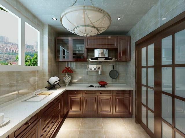 中式装修住宅想要有一个实用健康的厨房该如何布置