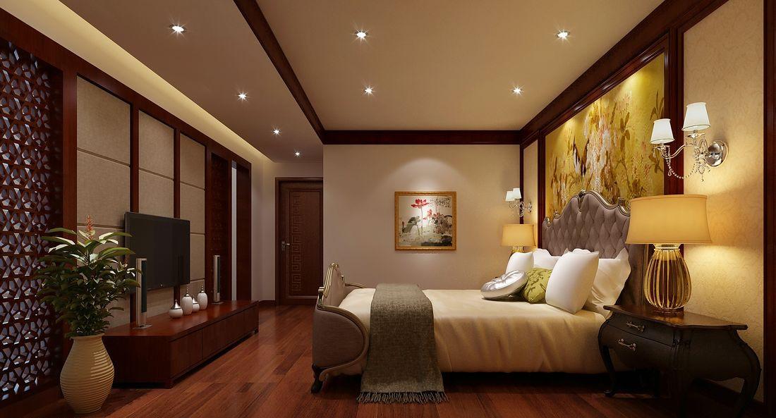 中式装修家居卧室风水中床该如何安放