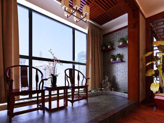 中式装修设计家庭阳台装修设计五项建议