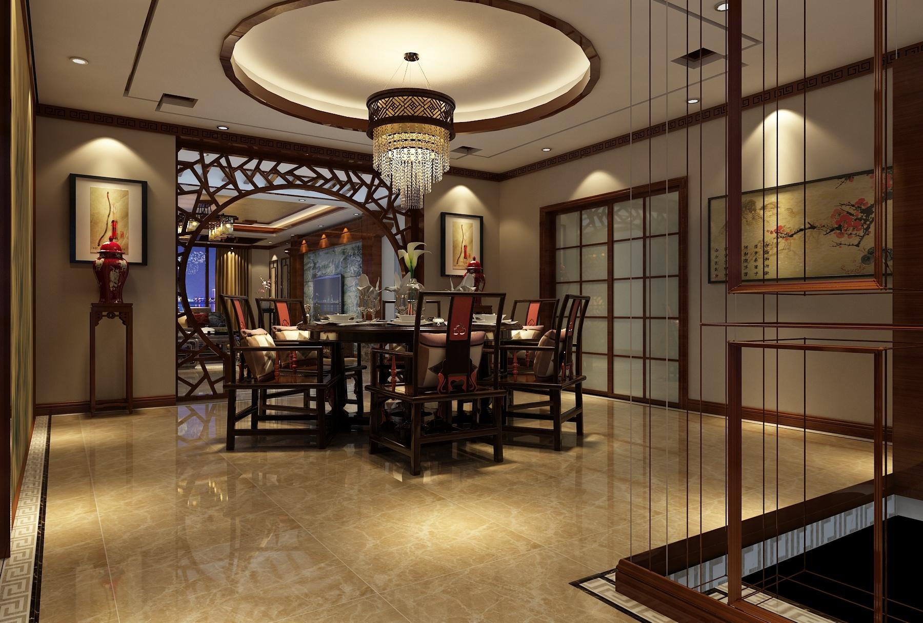总结中式装修家居餐厅常见的几种餐桌椅大小尺