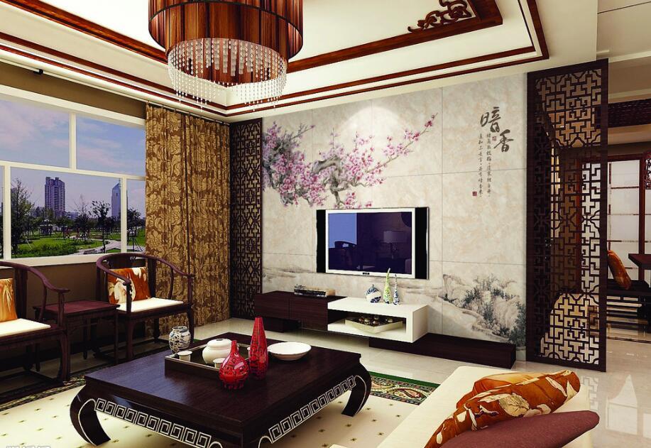 中式电视背景墙该装饰成什么样?
