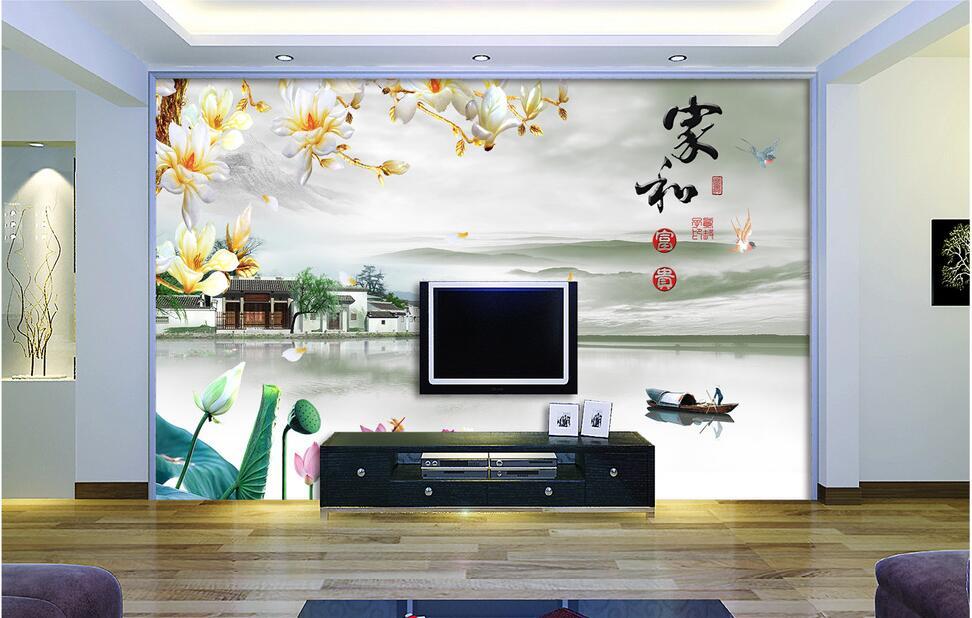 紫云轩电视背景墙
