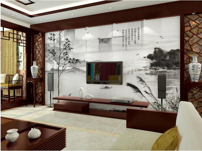 紫云轩 电视背景墙