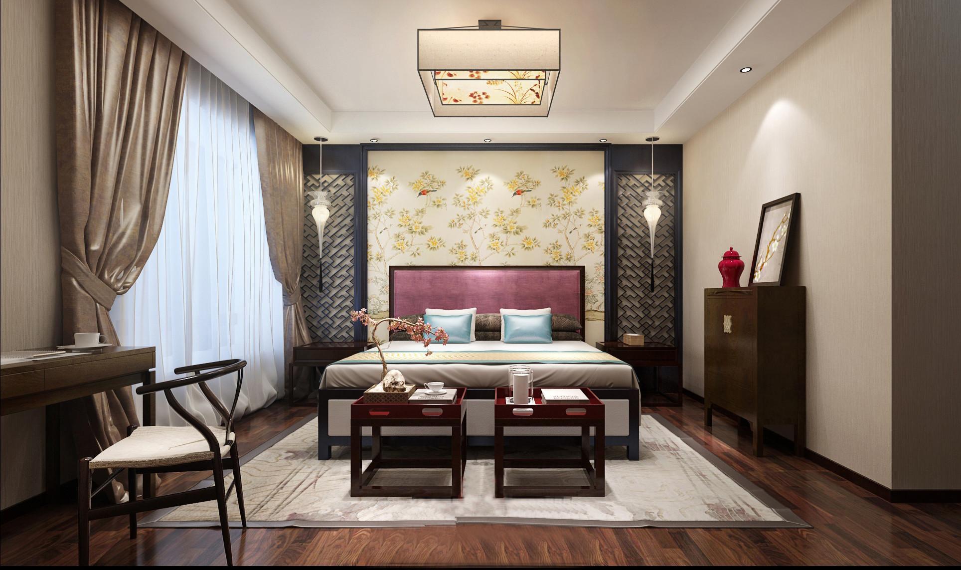 首页 装修百科 家装资讯    四,中式卧室装修要注意家具布置   中式风