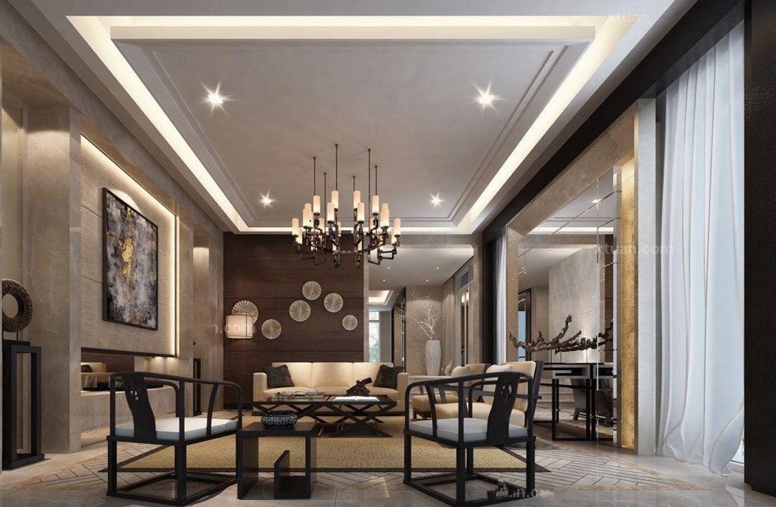 中式家居设计空间红木家具客厅摆放风水有哪些