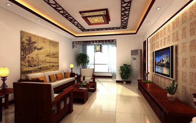 中式装修客厅的装饰物吊灯该如何选择安装