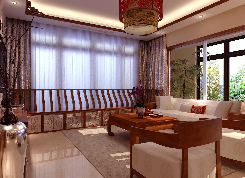 中式装修客厅窗帘