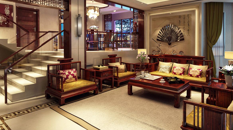 中式装修客厅图片