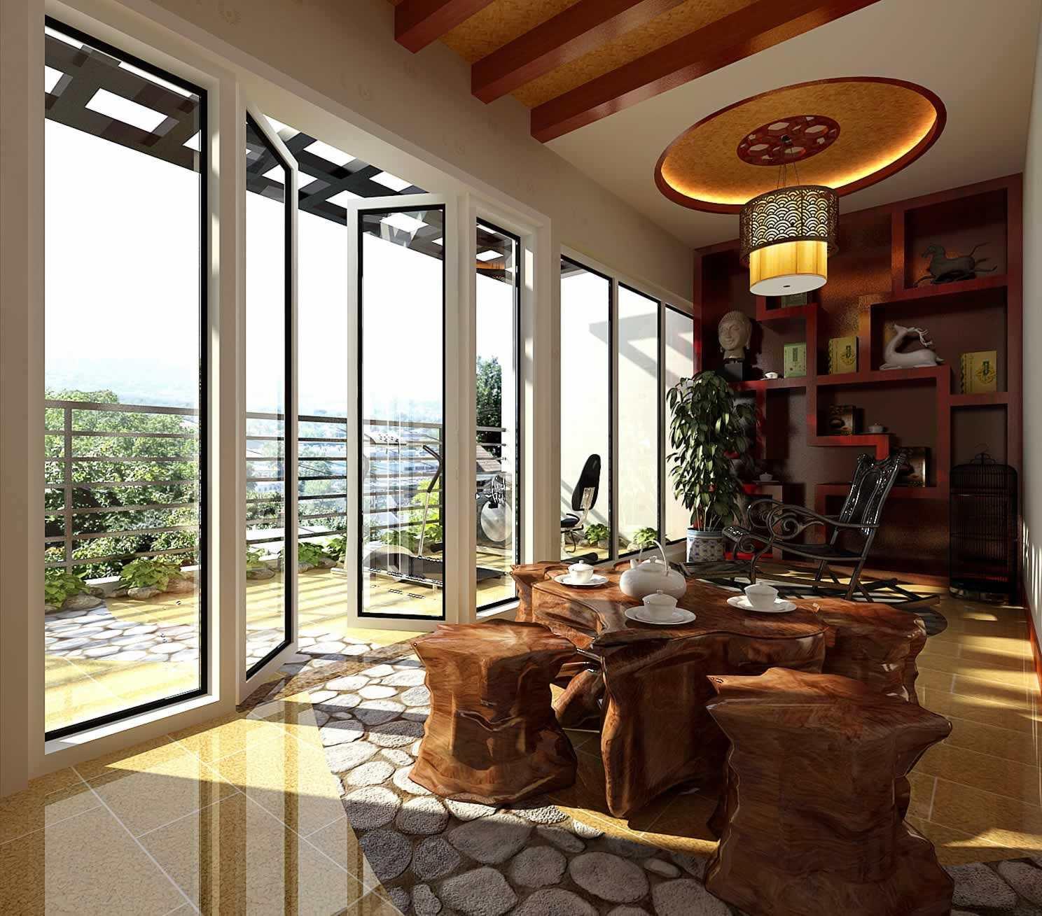 """新中式设计别墅的庭院打造,秉持着""""营建而非建造"""",""""虽由人作,宛自天开"""