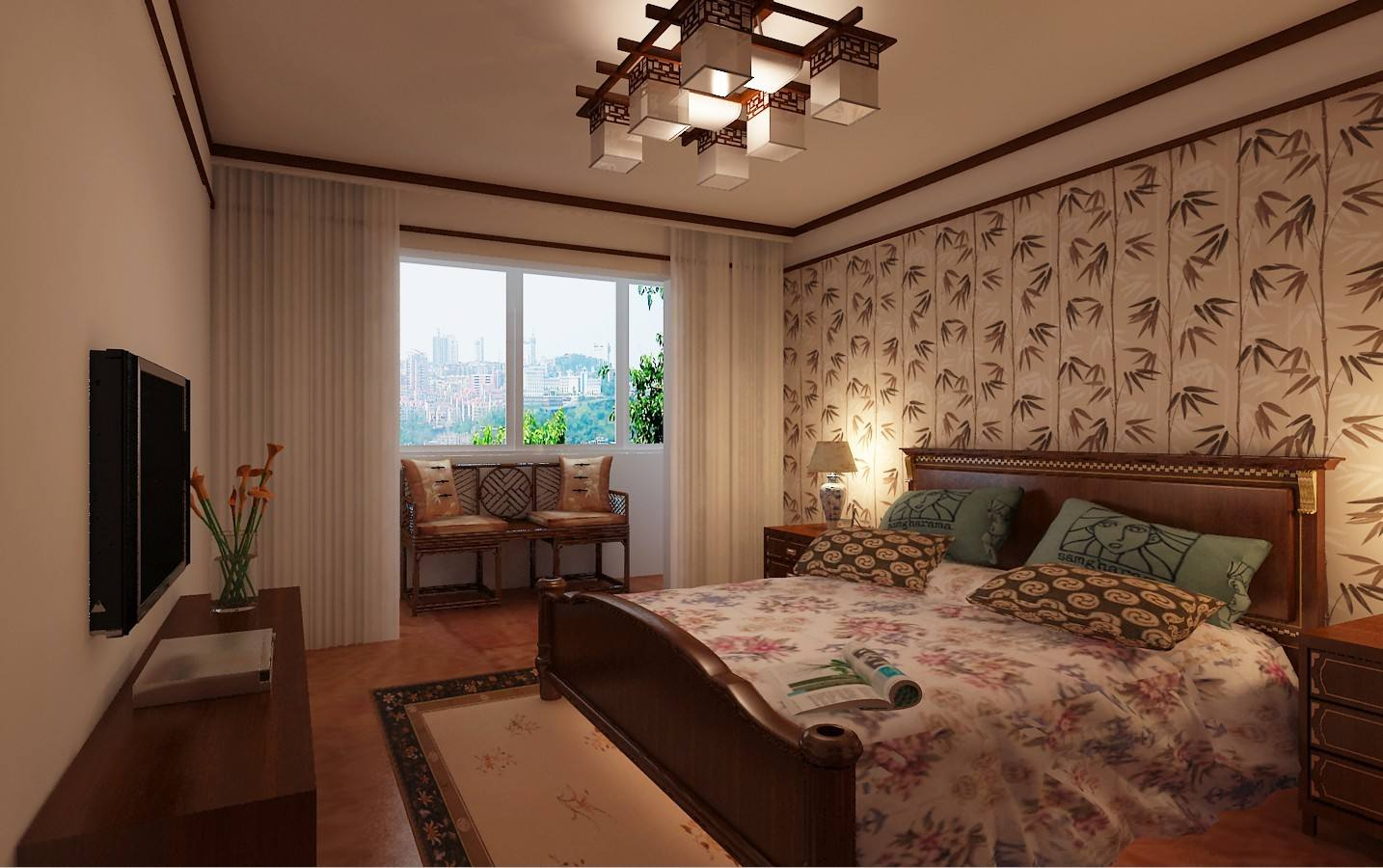 9款古典大气的中式装修设计卧室