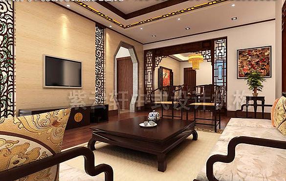 中式装修风格 成都平层复式中式设计案例