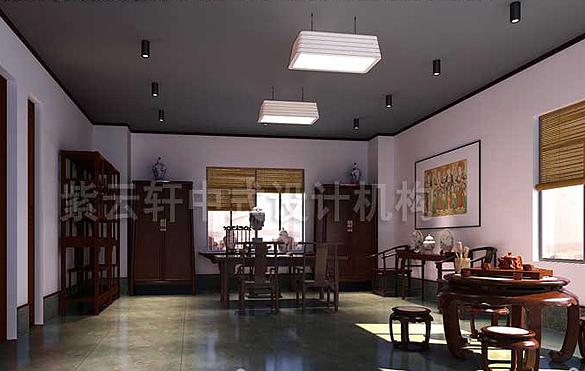 办公室中式装修,办公室中式设计,效果图,图片 紫云轩办公室