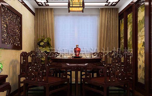 江南风格室内手绘餐厅