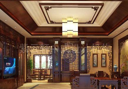 简约别墅中式设计装修效果图