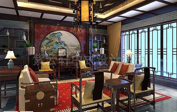 别墅中式装修,别墅中式设计,中式别墅,图片,效果图