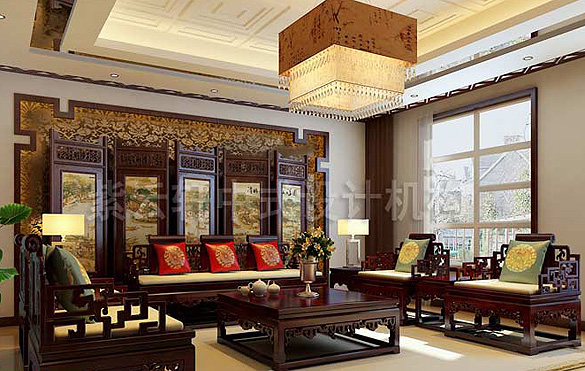 别墅中式装修,别墅中式设计