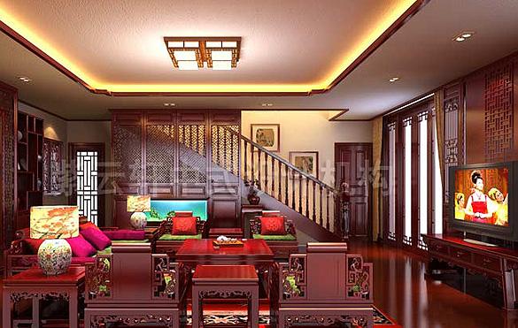 别墅古典中式风格装修中的古风禅意设计赏析