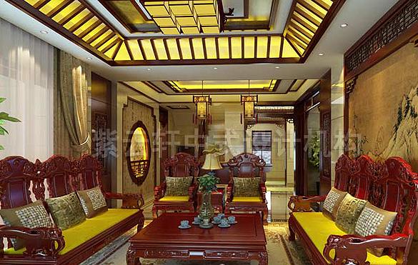 别墅中式装修,别墅中式设计,中式别墅,图片,效果图 紫云轩别墅中