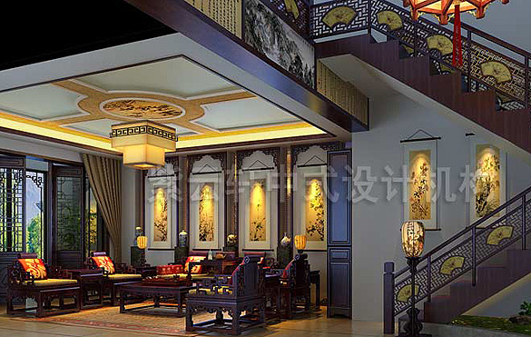 餐厅中式装修效果图大全2014图片图片