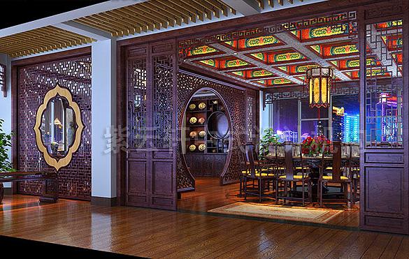 餐厅中式装修效果图大全2014图片-紫云轩中式装修专题