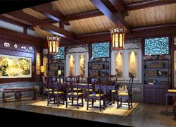 复古茶室装修案例