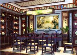 传统风格茶室效果图