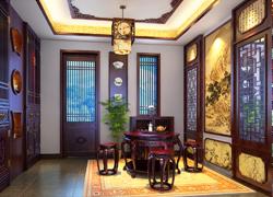 中式茶室装潢图片