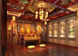 佛堂传统设计图