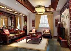 仿古起居室装修实例