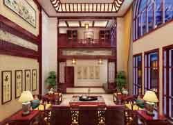 仿古中式书房装修效果图