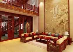 中式仿古书房实景图